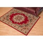 Dallas Floral Kirman Red Area Rug Rug Size: 7'10
