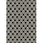 Trend Black Geometric Area Rug Rug Size: Rectangle 3'11