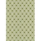 Trend Green Geometric Area Rug Rug Size: Rectangle 5'3