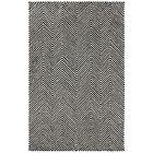 Celeste Chevron Hand-Tufted Black Area Rug Rug Size: Rectangle 5' x 8'