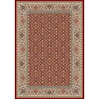 Attell Red/Ivory Area Rug Rug Size: Rectangle 3'11