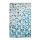 Vogue Hand-Woven Gray/Turquoise Area Rug Rug Size: Rectangle 2' x 4'