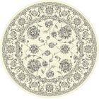 Attell Oriental Cream Area Rug Rug Size: Round 7'10