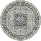 Attell Silver/Gray Area Rug Rug Size: Round 5'3