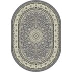 Attell Gray/Cream Area Rug Rug Size: Oval 5'3