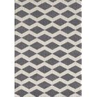 Lowes Gray/White Area Rug Rug Size: Rectangle 6'7