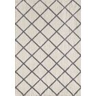 Lowes Ivory/Gray Area Rug Rug Size: Rectangle 7'10