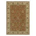 Ashtown Tufted Wool Rust/Ivory Area Rug Rug Size: Rectangle 9'6