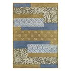 Vision Mix Blue Striped Rug Rug Size: Rectangle 8' x 11'
