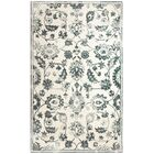 Montoya Hand-Tufted Ivory/Teal Area Rug Rug Size: Rectangle 8' x 11'