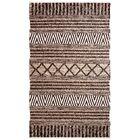 Edwa Hand-Woven Charcoal/Ivory Area Rug Rug Size: Rectangle 8' x 11'