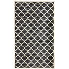 Ritz Hand-Woven Black/Beige Area Rug Rug Size: Rectangle 3' x 5'