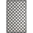 Ritz Hand-Woven Gray/Black Area Rug Rug Size: Rectangle 3' x 5'