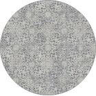 Attell Light Blue Area Rug Rug Size: Round 5'3