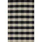 Pickering Hand Woven Wool Black/Ivory Area Rug Rug Size: Rectangle 4' x 6'