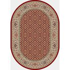 Attell Red/Ivory Area Rug Rug Size: Oval 6'7