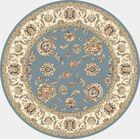 Attell Woven Blue/Ivory Area Rug Rug Size: Round 7'10