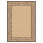 Rachael Natural/Brown Indoor/Outdoor Area Rug Rug Size: Rectangle 5'3