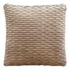 Ripple Throw Pillow Color: Dove / Silver