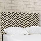 Cespedes Upholstered Panel Headboard Size: Full, Upholstery: Grey / White