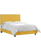 Kovach Upholstered Panel Bed with Mattress Color: Linen - French Yellow, Size: King