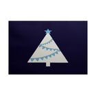 Christmass Blue Indoor/Outdoor Area Rug Rug Size: Rectangle 3' x 5'