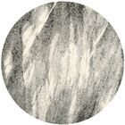 Vulpecula Grey and Ivory Area Rug Rug Size: Round 8'