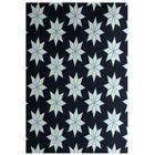 Christmass Geometric Blue Indoor/Outdoor Area Rug Rug Size: Rectangle 3' x 5'