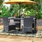 Sarver 5 Piece Dining Set with Cushions Finish: Gray