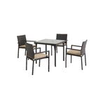 Basinger 5 Piece Dining Set with Cushions