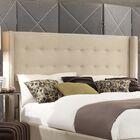 Tramel Linen Upholstered Platform Bed Color: White, Size: Queen