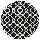 Vanauken Hand-Tufted Black / Ivory Area Rug Rug Size: Rectangle 5' x 7'9