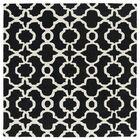 Vanauken Hand-Tufted Black / Ivory Area Rug Rug Size: Square 3'9