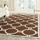 Martins Hand-Tufted Wool Dark Brown Area Rug Rug Size: Rectangle 9' x 12'