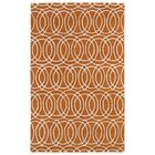Molly Orange/White Area Rug Rug Size: Rectangle 5' x 7'9