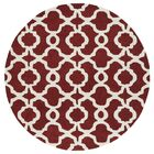 Molly Hand-Tufted Red / Ivory Area Rug Rug Size: Round 5'9