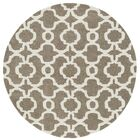 Molly Hand-Tufted Light Brown / Ivory Area Rug Rug Size: Round 11'9