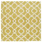 Molly Hand-Tufted Yellow / Ivory Area Rug Rug Size: Square 9'9