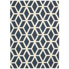 Aidyn Hand-Knotted Blue/Ivory Area Rug Rug Size: Rectangle 7'6