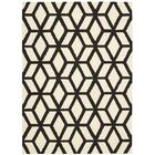 Nohemi Hand-Knotted Ivory/Black Area Rug Rug Size: Rectangle 3'9