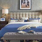 Higham Upholstered Panel Headboard Upholstery: Beige, Size: Full