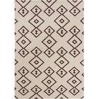 Signe Flat Weaved Rectangle Reversible Wool Brown/Cream Area Rug
