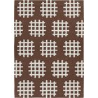 Mittler Brown/White Abstract Rug Rug Size: 3' x 5'