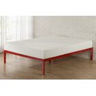 Avey Bed Frame Size: Queen, Color: Red