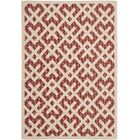 Quinlan Red / Bone Outdoor Rug Rug Size: Rectangle 5'3