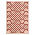 Quinlan Red / Bone Outdoor Rug Rug Size: Rectangle 8' x 11'2