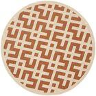 Quinlan Terracotta/Bone Indoor Indoor/Outdoor Area Rug Rug Size: Round 5'3