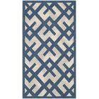 Quinlan Navy/Beige Outdoor Area Rug Rug Size: Rectangle 8' x 11'