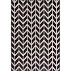 Chittenden Chevron Black & Beige Area Rug Rug Size: 8'2'' x 9'10