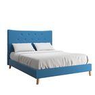 Dedrick Linen Bed Color: Blue, Size: King